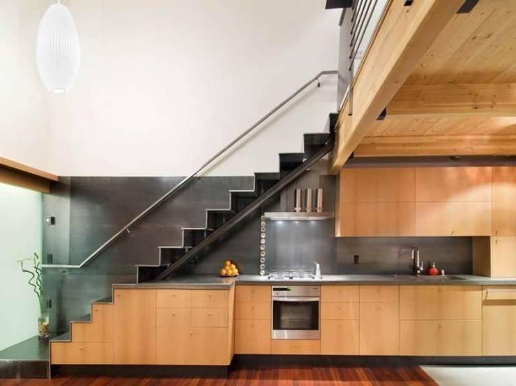 Masif Panel Çözümleri - Serender Ahşap Dekorasyon – Ahşap Merdiven Uygulaması:  tarz İç Dekorasyon