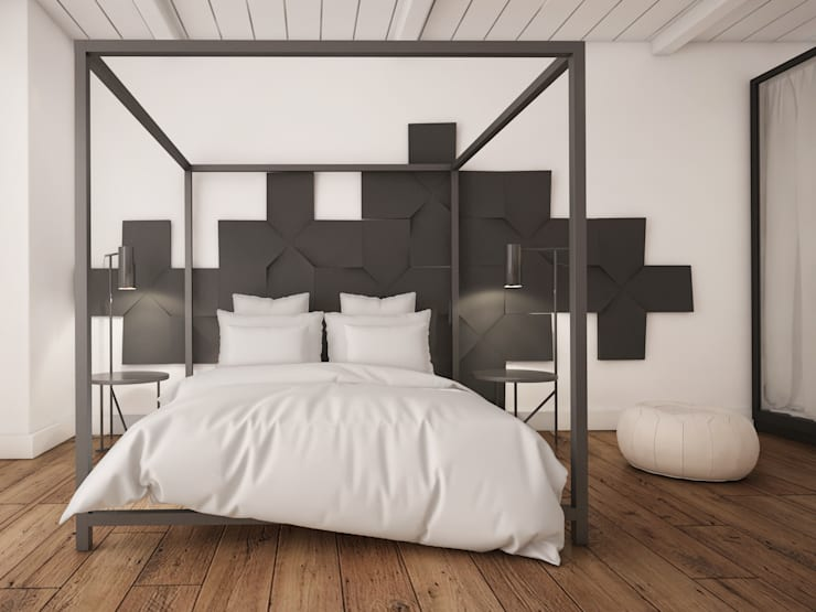 Brilliance in Simplicity: How to Evoke Old World Charm with Reclaimed Oak: country Bedroom by The Wood Galleries