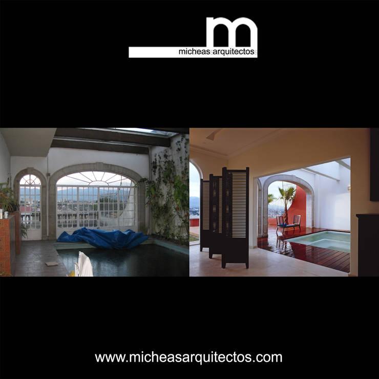 Alberca:  de estilo  por MICHEAS ARQUITECTOS