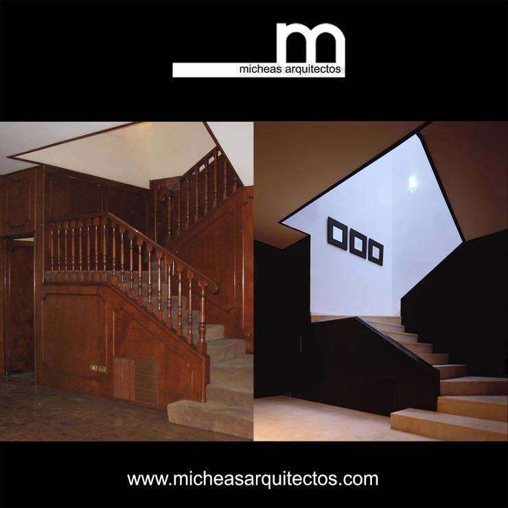 Escaleras / Vestíbulo:  de estilo  por MICHEAS ARQUITECTOS
