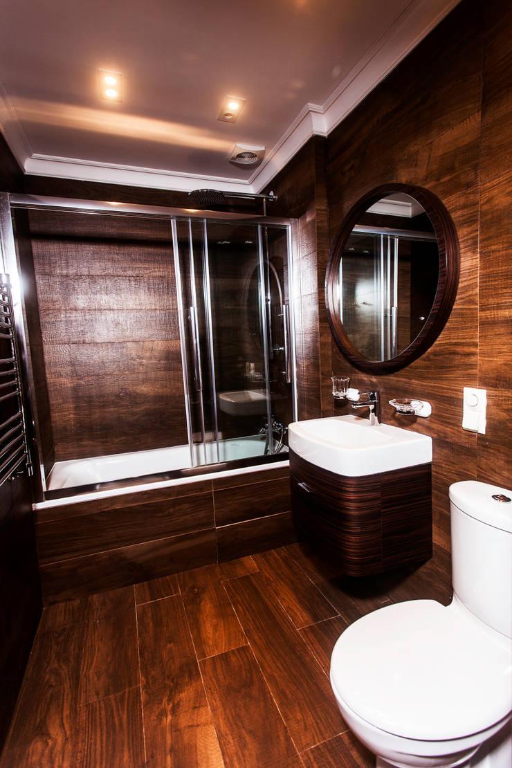 Москва, Весковский переулок: Ванные комнаты в . Автор – Prosperity, Модерн