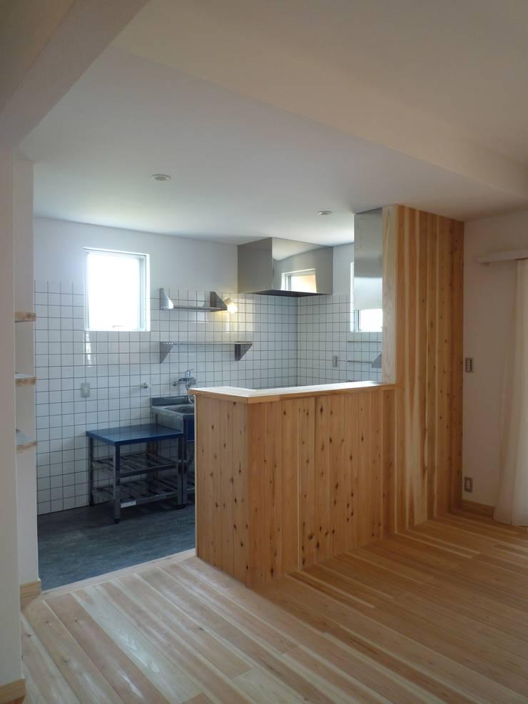 コンパクトなキッチン: 篠田 望デザイン一級建築士事務所が手掛けたキッチンです。