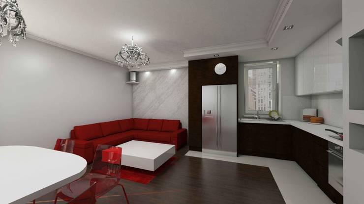 Salon glamour: styl , w kategorii Salon zaprojektowany przez Katarzyna Wnęk,Nowoczesny