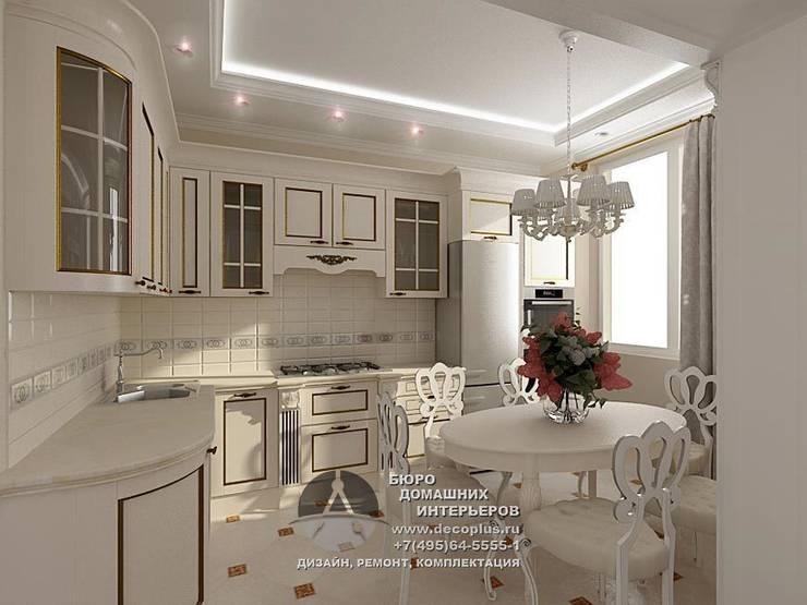 Дизайн интерьера кухни в белом цвете: Столовые комнаты в . Автор – Бюро домашних интерьеров,