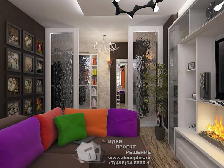 Перегородки в комнате: Гостиная в . Автор – Бюро домашних интерьеров, Минимализм