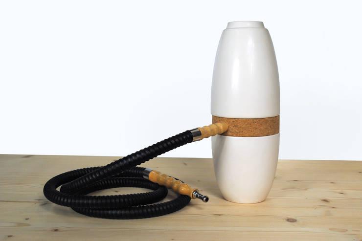 Ceramic hookah: modern  door Studio Lorier, Modern