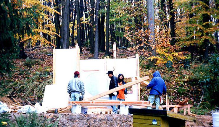 茶室建立作業2: 一級建築士事務所 有限会社設計処草庵が手掛けたです。