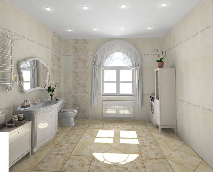 Санузел в классическом стиле: Ванные комнаты в . Автор – Гурьянова Наталья, Классический