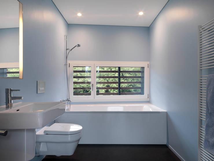 Projekty,  Łazienka zaprojektowane przez nimmrichter architekten ETH SIA AG