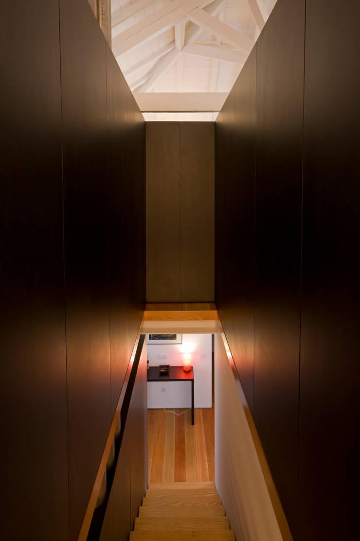 Escadas 2: Corredores e halls de entrada  por Paulo Freitas e Maria João Marques Arquitectos Lda