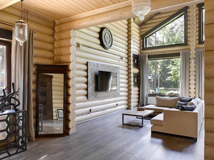 Salas de estar rústicas por Lavka-design дизайн бюро