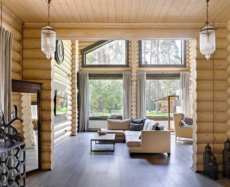 rustikale Wohnzimmer von Lavka-design дизайн бюро