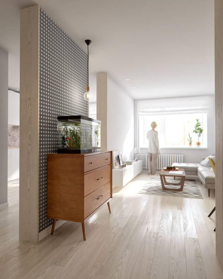 Salas / recibidores de estilo  por INT2architecture, Escandinavo