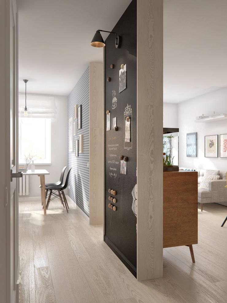 Pasillos y vestíbulos de estilo  por INT2architecture, Escandinavo
