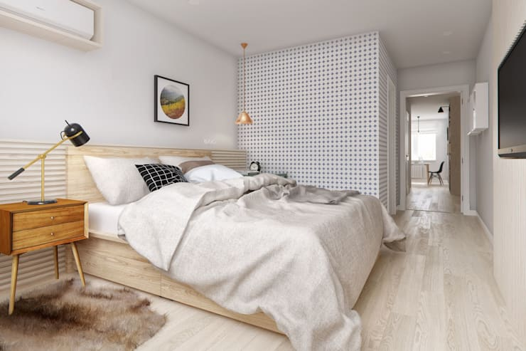 scandinavian Bedroom by INT2architecture