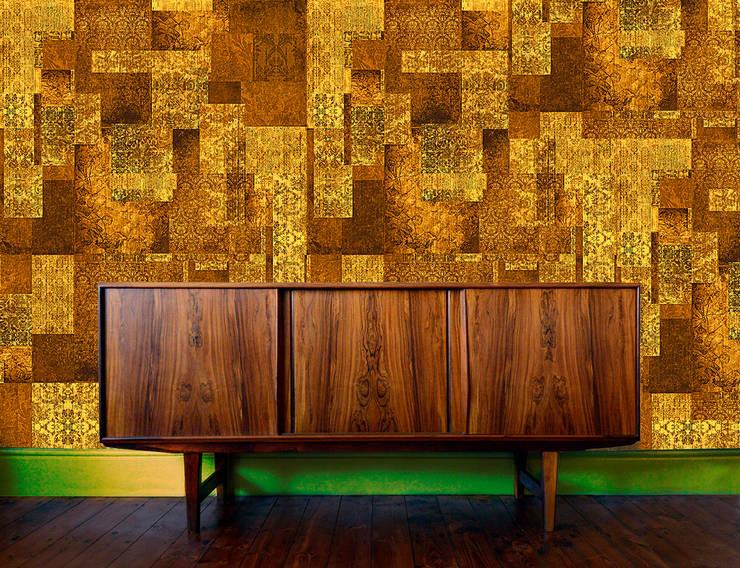 Blackpop: styl , w kategorii Ściany i podłogi zaprojektowany przez Wzorywidze.pl