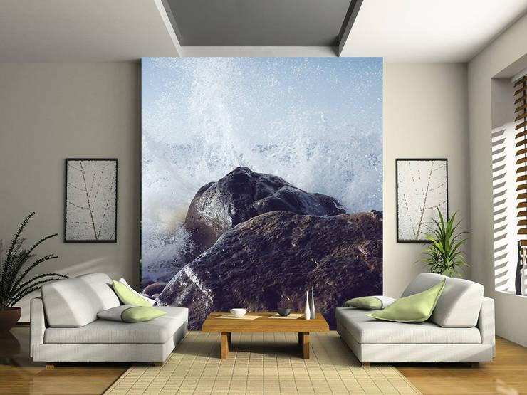 Fotomurales para salas : Salas de estilo  por MUA