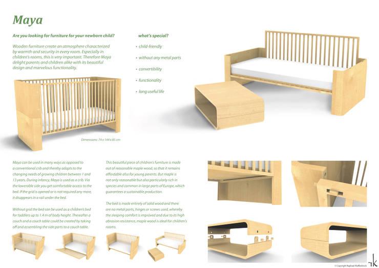 Stanza dei bambini in stile in stile Moderno di Raphael Klaffenböck - Design und Produktmanagement
