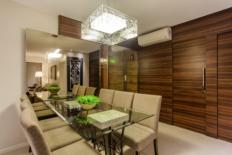 Sala de jantar: Sala de jantar  por msaviarquitetura