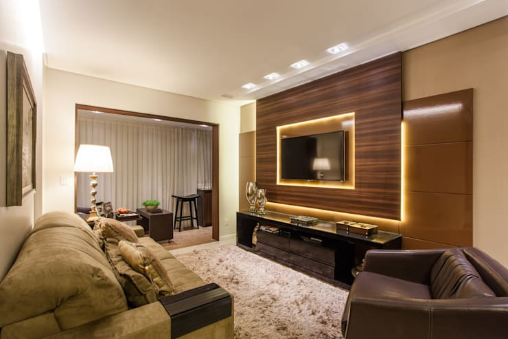 Elegância da sala de estar: Sala de estar  por msaviarquitetura,