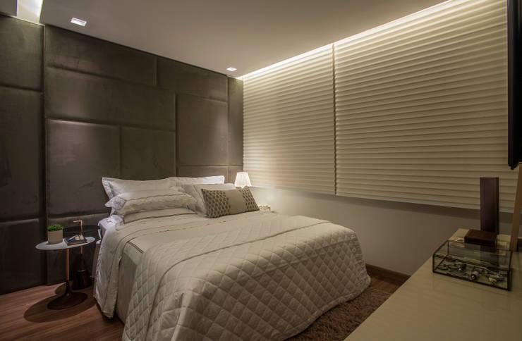 Schlafzimmer von Nara Cunha Arquitetura e Interiores,