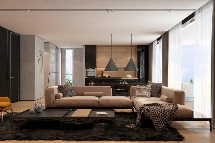 Tel Aviv apartment: Гостиная в . Автор – Diff.Studio