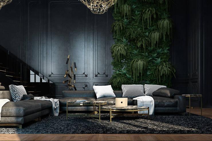 ausgefallene Wohnzimmer von Diff.Studio