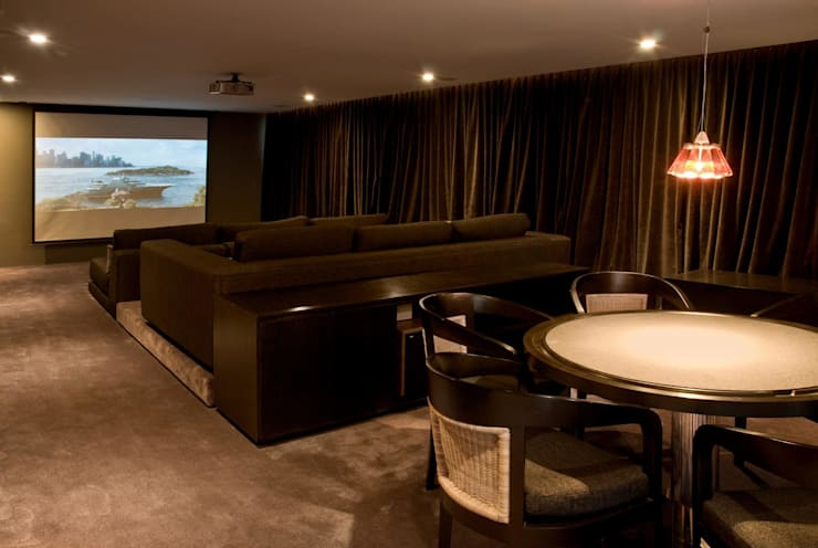 Salas multimedia de estilo  de Alvaro Moragrega / arquitecto