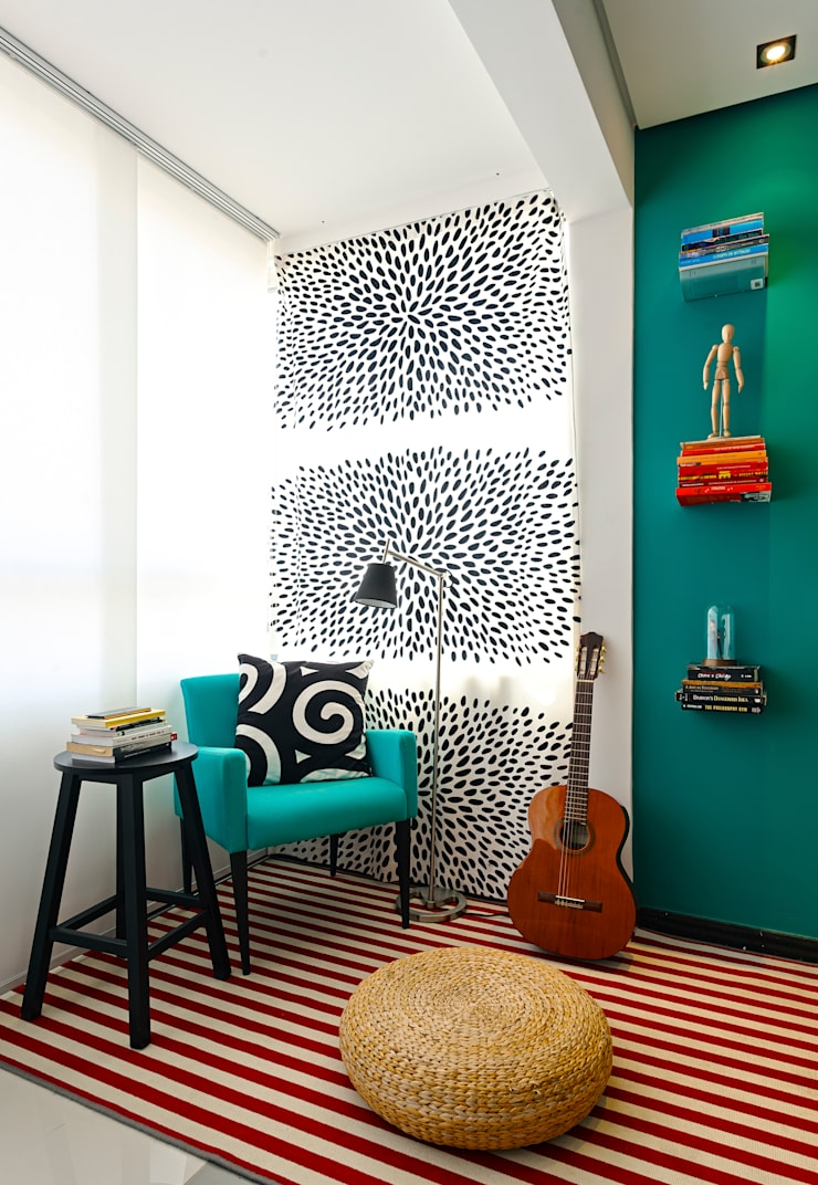 Sala de estar: Salas de estar  por Estúdio 102