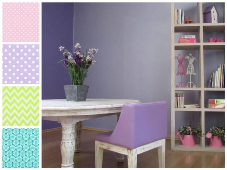 Mesa de trabajo y silla infantil: Habitaciones infantiles de estilo  por MARIANGEL COGHLAN