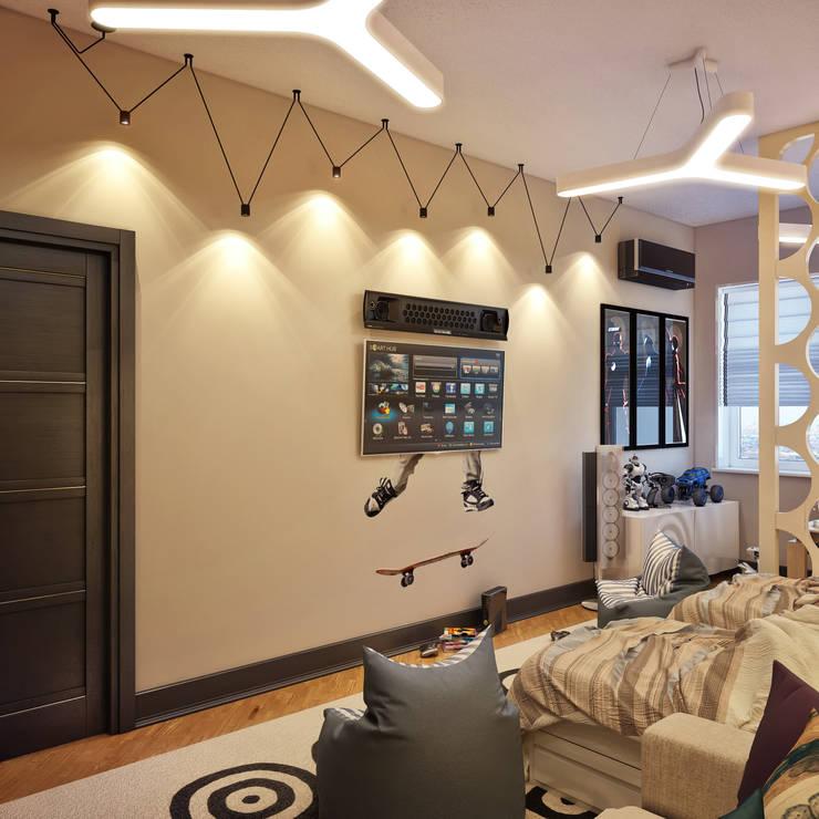 Детская комната для близнецов: Детские комнаты в . Автор – Sweet Home Design
