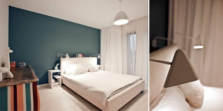 Wnętrza domu jednorodzinnego, Jaworzno: styl , w kategorii Sypialnia zaprojektowany przez modero architekci