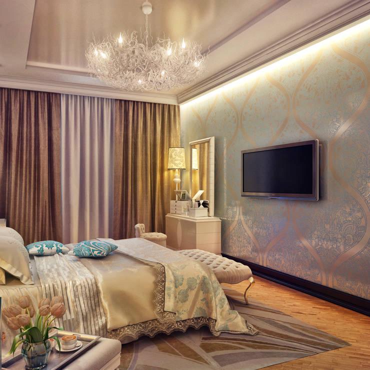 Спальня для романтиков: Спальни в . Автор – Sweet Home Design