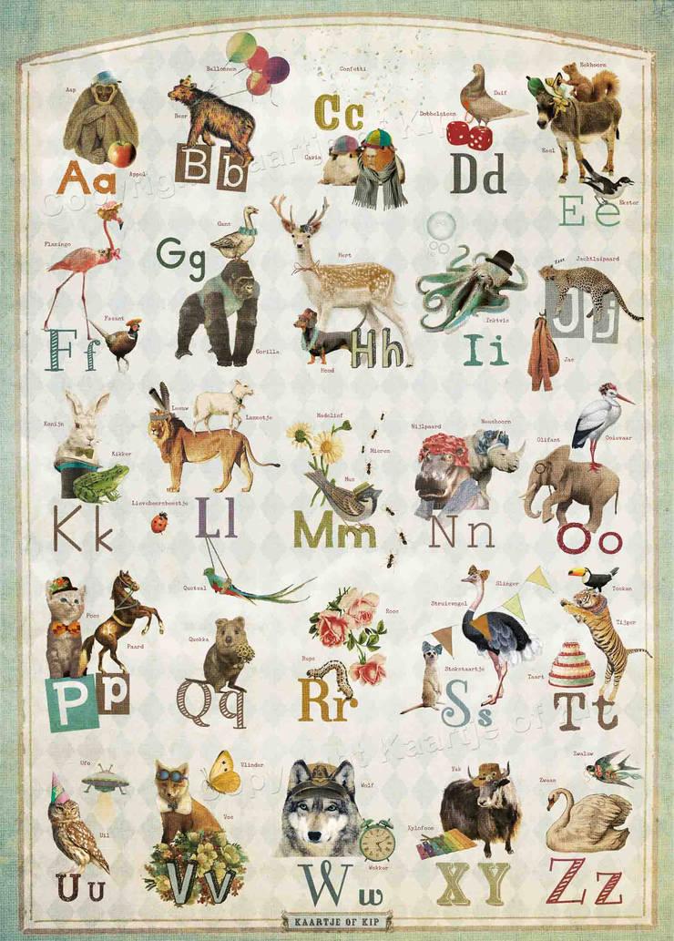 Kaartje of Kip - ABC poster 50x70 cm:   door Kaartje of Kip, Landelijk