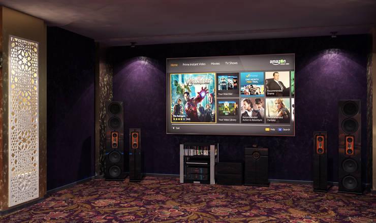 Домашний кинотеатр: Медиа комнаты в . Автор – Sweet Home Design