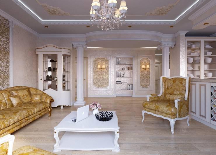غرفة المعيشة تنفيذ ДизайнМастер