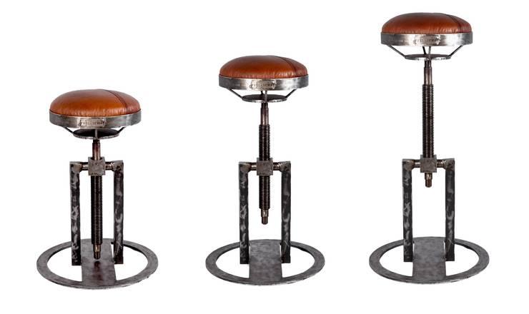 Hoker / Stołek Industrialny : styl , w kategorii Salon zaprojektowany przez Rekoforma