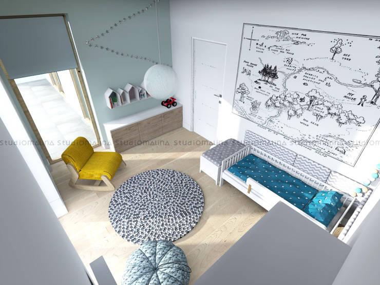 Pokój Tadka: styl , w kategorii Pokój dziecięcy zaprojektowany przez Studio Malina,Skandynawski