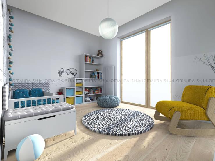 Pokój Tadka: styl , w kategorii Pokój dziecięcy zaprojektowany przez Studio Malina