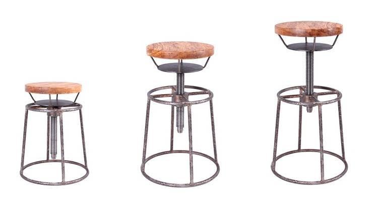 Hoker Stalowe Pręty- Drewno : styl , w kategorii  zaprojektowany przez Rekoforma,Industrialny