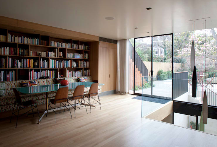 West London house:  Dining room by Viewport Studio