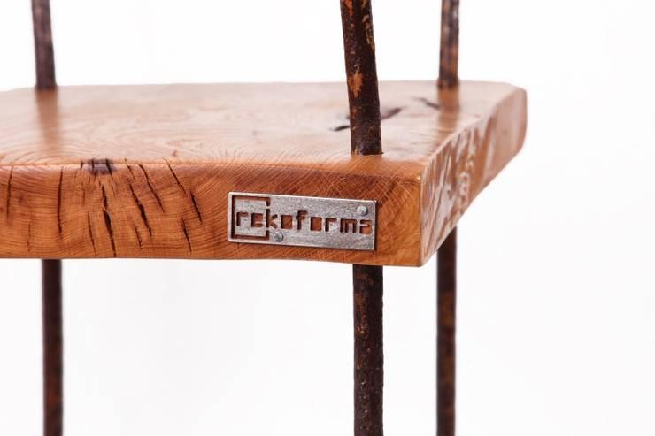 Krzesło  Stalowe Pręty : styl , w kategorii Hotele zaprojektowany przez Rekoforma,Industrialny
