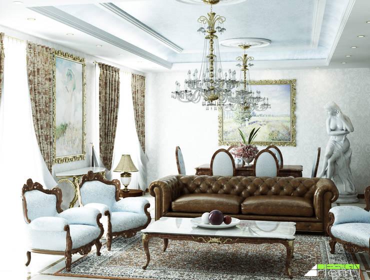 Arredo classico di un soggiorno di lusso von Arienti Design ...