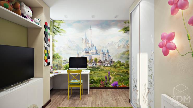 Проект 010: детская + ванная: Детские комнаты в . Автор – студия визуализации и дизайна интерьера '3dm2'