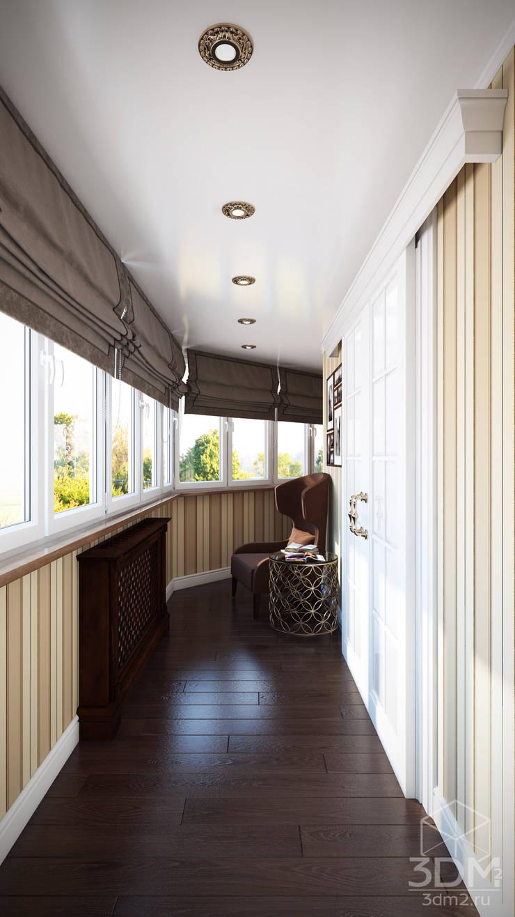 Проект 013: лоджии + ванная: Tерраса в . Автор – студия визуализации и дизайна интерьера '3dm2'