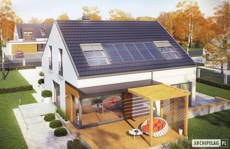 Projekt domu Edgar II G2 ENERGO PLUS : styl , w kategorii Domy zaprojektowany przez Pracownia Projektowa ARCHIPELAG,Nowoczesny