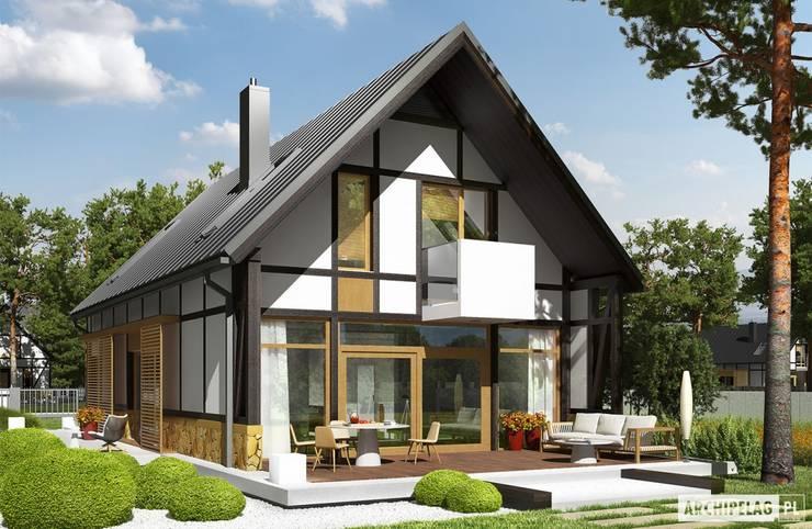 Projekt domu EX 15 : styl , w kategorii Domy zaprojektowany przez Pracownia Projektowa ARCHIPELAG
