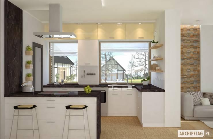 Projekt domu EX 15: styl , w kategorii Kuchnia zaprojektowany przez Pracownia Projektowa ARCHIPELAG
