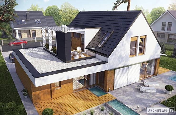 Projekt domu Neo G1 ENERGO : styl , w kategorii Domy zaprojektowany przez Pracownia Projektowa ARCHIPELAG