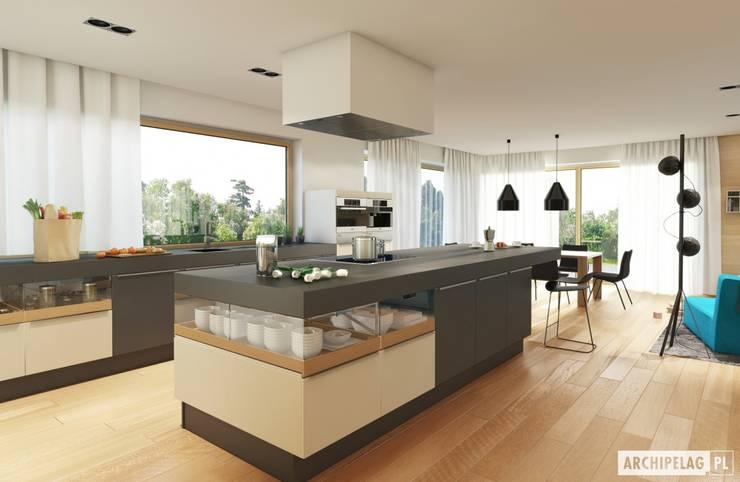Cucina in stile in stile Moderno di Pracownia Projektowa ARCHIPELAG